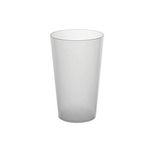 50 Gobelets Réutilisables - en plastique Polypropylène Rigide 30cl (Givré)