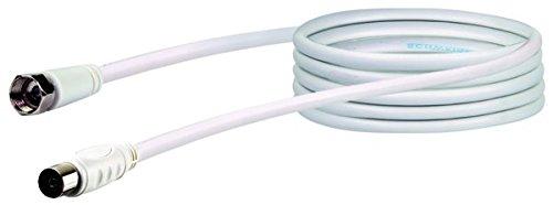 Schwaiger KVCK173532 Sat-Adapterkabel 75dB, F/IEC-Buchse, 3,0 m weiß