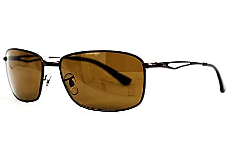 Ray Ban Men's Rb3501 Matte Brown Frame/Polarized Brown Lens Metal Sunglasses