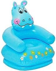 Nyrwana Intex Premium Inflatable Beanless Sofa Chair for Kids 60 Kg (Blue)