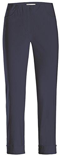 Stehmann Igor-680, sportive 7/8 Damenhose, in vielen weiteren Farben erhaeltlich, Größe 42, Farbe Marine