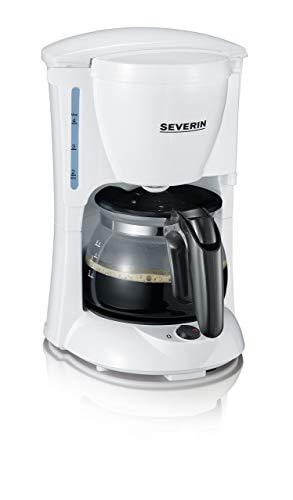 Schwarz, Weiß, Kaffee (SEVERIN Kaffeemaschine, Für gemahlenen Filterkaffee, 4 Tassen, Inkl. Glaskanne, KA 4807, Weiß/Schwarz)