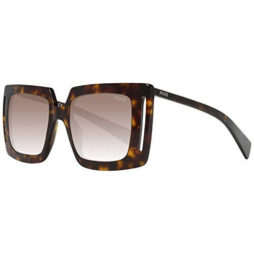 Emilio Pucci Unisex-Erwachsene EP0076 52K 51 Sonnenbrille, Braun (Avana Scura/Roviex Grad),
