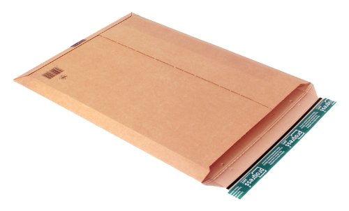 progressPACK Kalenderversandtasche Premium PP W01.09 aus Wellpappe, DIN A2-, 414 x 570 x bis 50 mm, 25-er Pack, braun