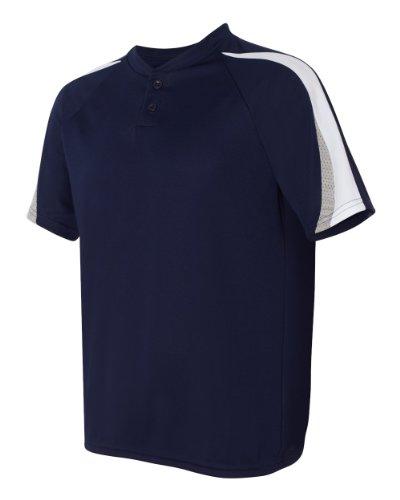 Augusta Herren Sportswear Power Plus Baseball Jersey Navy/White/Silver Grey