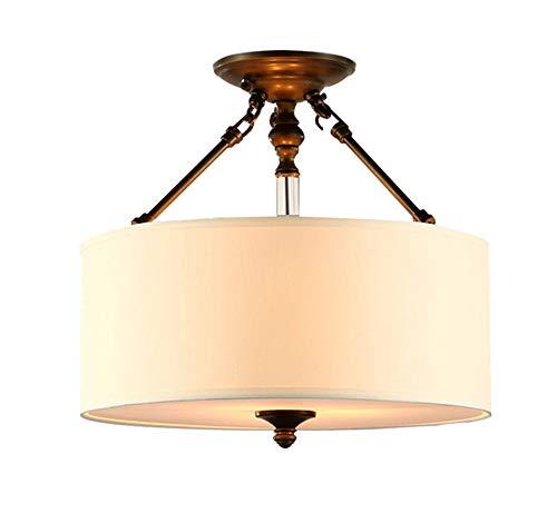 GFQ Moderne Gewebe-Leinen-Deckenleuchte, Trommel-Schatten nah an Deckenleuchte-dekorativem Leuchter-hängendem Lampenschirm-Innenlicht für Schlafzimmer-Wohnzimmer (Drum Lampenschirme Nur)