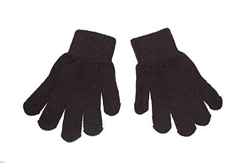 topb bord bébé gants Magic, pour bébé et enfant, en tricot Disponible en 6 couleurs : noir, rose clair, bleu marine, bleu clair, rouge et blanc. - Noir - Taille Unique