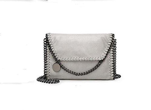 Nuove borse, spalla casuale, messaggero, sacchetto chain gray