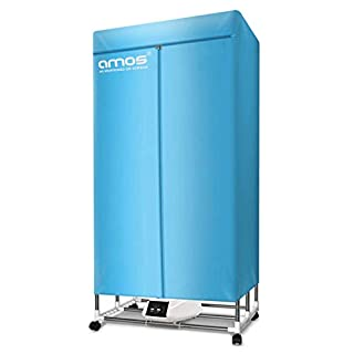 AMOS Eezy-Dry Electric Clothes Dryer 1300W Large Capacity 15kg 25 Items Energy-Efficient Indoor Wet Laundry Warm Air Drying Wardrobe