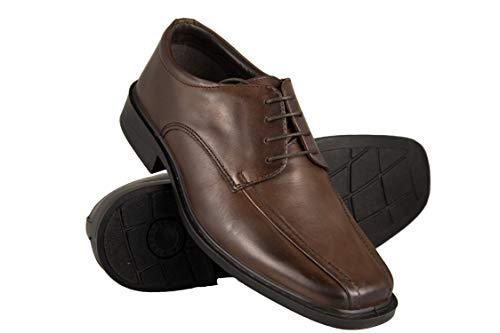 Zerimar Schuhe Mann | Schuhe Klassisch Herren Leder | Casual Lederschuhe Herren | Herren Schuhe Business (Männer Braun-oxford-kleid-schuhe)