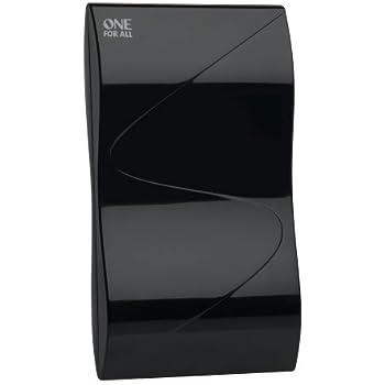 Verstärkte Zimmerantenne im Wabendesign von One For All - Geeignet für den Empfang von DVB-T & DVB-T2 - Full HD ready - Schwarz - SV9323