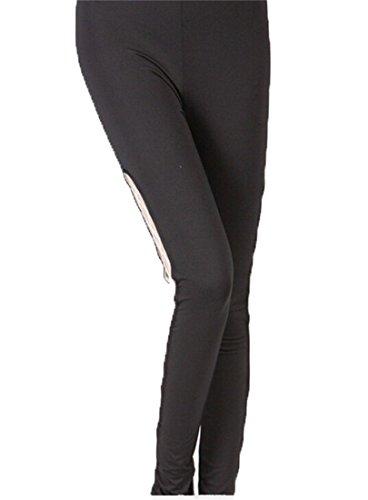 Maille Extensible Sexy Longue Neuvieme Pantalons Leggings Collants Jeggings S M L Xlw O Tablier Noir