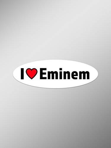 I Love Eminem Vinyl Decals Stickers (Two Pack) | Cars Trucks Vans Windows Walls Laptop Cups | Printed | 2-5.5 Inch Decals | KCD1409 -