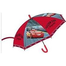 Paraguas Infantil, Diseño de Cars, Color Rojo