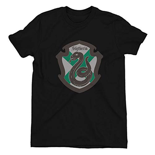 Harry Potter Slytherin Shield Ladies Black T-Shirt