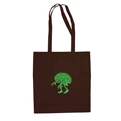 Walking Brain – Stofftasche / Beutel, Farbe: braun