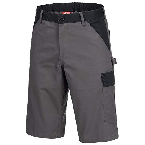 Nitras Motion Tex Light Arbeitshose - Arbeitshosen kurz für Herren & Damen - Arbeitskleidung Bundhose Schutzhose - Grau Größe 68