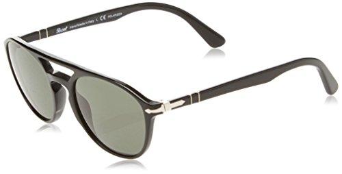 Persol Herren 0Po3170S 901458 52 Sonnenbrille, Schwarz (Black/Polargreen),