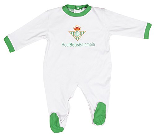 Real Betis Balompié Pelbet Pelele, Bebé-Niños, Multicolor (Blanco /