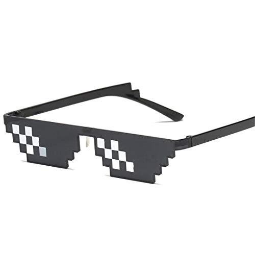 DAIYSNAFDN Zwei Dimensionen Mosaik Sonnenbrille Frauen Vintage Kleine Rahmen Brille Dame Retro Metall Sonnenbrille Black 2
