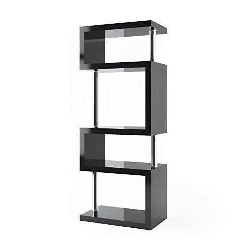 Cosmo 5 Tier Bookcase/Display Unit (Black)