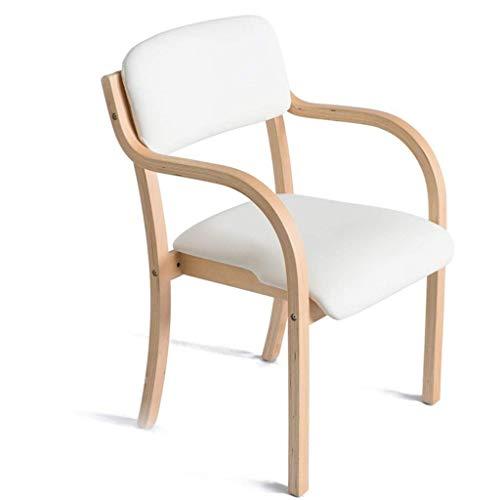 Z-Y Hocker Holz Sessel mit Rückenlehne und Armlehne, die für Schreibtisch Esszimmer Make-Up Lernstuhl für zu Hause & Amp Verwendet Werden Können; Kommerzielles Weiß (Hause Zu Amps Für)