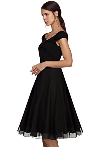 cooshional - Robe - Sans bretelle - Femme Noir