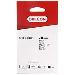 Chaîne de tronçonneuse Oregon Standard 91P pour équiper les Tronçonneuses 35 cm Stihl, 50 Maillons Entraineurs
