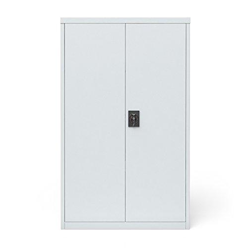 Preisvergleich Produktbild Aktenschrank Büroschrank Werkzeugschrank Metallschrank Universal Schrank grau 3 Einlegeböden