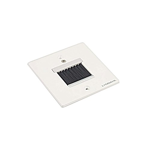 Lyndahl Highend Lautsprecherblende LKL001, LKL002, LKL005 und LKL007 für Lautsprecher, passend für Unterputzdose/Wandeinbaudose Wandanschlussblenden Surround System Weiß Bürste klein
