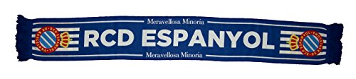RCD Espanyol Bufesp Bufanda Telar, Azul / Blanco, Talla Única
