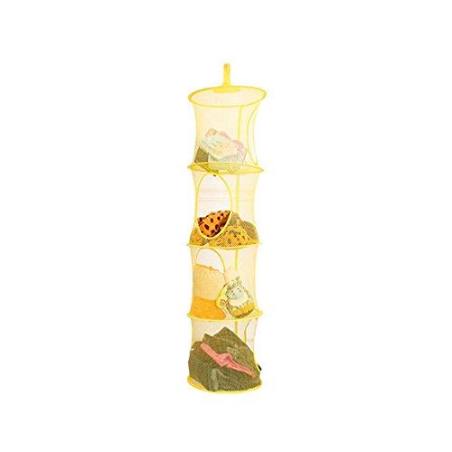 Likeluk Faltbare 4 Schicht Wäsche Spielzeug Baskets Home Storage Hängetaschen Hängender Speicher Korb (Badezimmer-speicher-körbe)