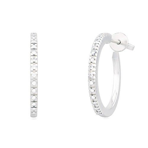 Orecchini cerchio donna ANNA in oro bianco 18kt e palladio con diamanti