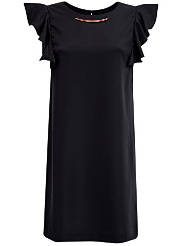 oodji-collection-donna-abito-maniche-ad-aletta-e-girocollo-con-decoro-nero-it-48-eu-44-xl