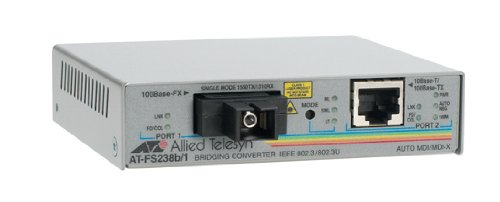 Allied Telesis AT-FS238B/1-60 Medien/rate-Konverter (RJ45, 10/100-TX, 100-FX) (Media Konverter Single-mode Sc)
