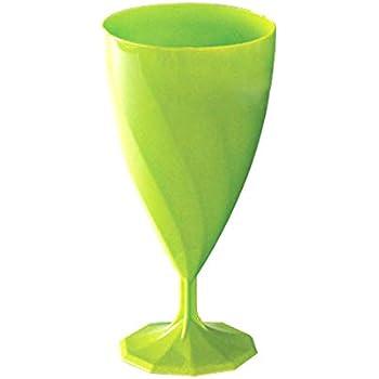 Adiserve 6 Verres /à Eau Plastique r/éutilisable 20 cl Vert anis