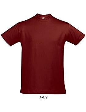 SOLS Imperial - Camiseta Unisex m/Corta 190gr./Child: Imperial - Camiseta Unisex m/Corta 190gr. - Color Chili/...