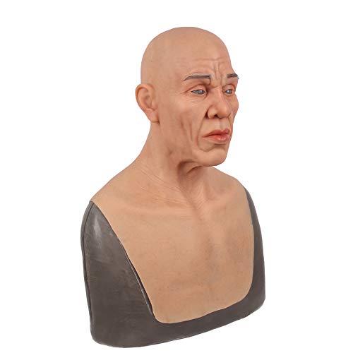 TYX HOME Real alte Masken Silikon realistischen Kopf voller Maskerade für DWT Cosplayer Mann Maske Halloween-Kostüm-Party