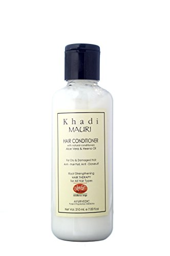 KHADI Hair Conditioner - Herbal Hair Nourisher - 210 ml - Enriched with Aloe Vera