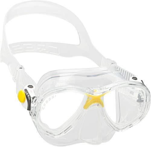 Cressi Marea Jr Mask Kinder Tauchmasken, gelb, Einheitsgröße