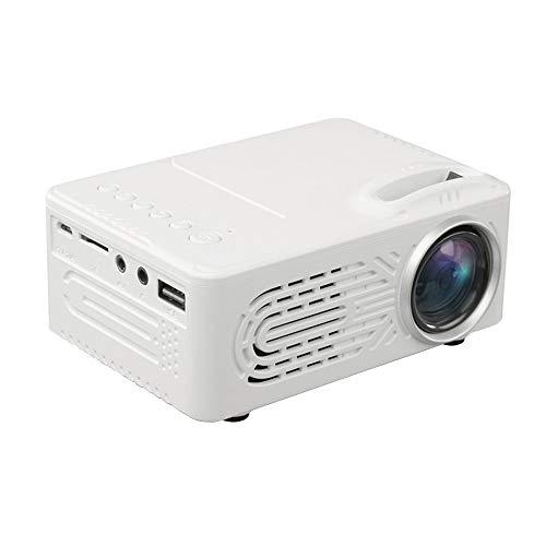 Yesmile Beamer, Multi-funktions videoprojektor ( Full-HD 1920 x 1080 Pixel, 20000 Stunden, Kontrastverhältnis 1000: 1, Eingang: AV / USB / TF-Karte / 5V 2A Powerbank )