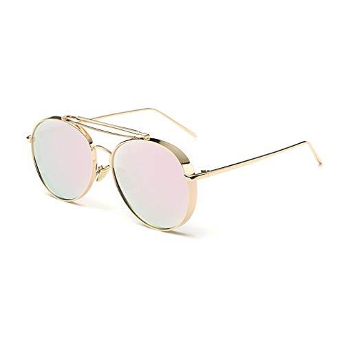 Junecat Frauen Retro Designer Mirrored Metallrahmen-Sonnenbrille-Schatten-Gläser Eyewear