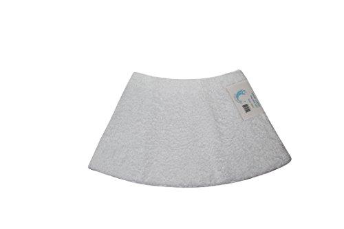 Cazsplash Viertelkreis Mini gebogen Dusche Matte, Baumwolle, weiß, 42x 26x 5cm (Dusche Matte Gebogene Boden)