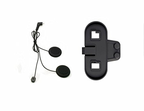 Boblov TCOM-SC W/Screen Bluetooth Motorcycle Motorrad Sturzhelm 800M Intercom Headset (Nur Soft Earphone+Bracket) Bei & T Bluetooth-headset