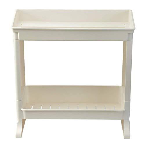 Duschorganisator Stand-Desktop Kunststoff Weiß 1/2 Tier, 3 Styles (Farbe: C-2-Schicht) ()