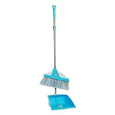 Alien Storehouse Durable Removable Broom und Dustpan Standing Upright Griffe Sweep Set mit Langem Griff, C7