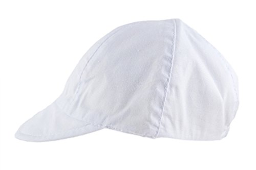 Baby Sun Hat Boy Girl Toddler Cotton Summer Cap Sky Blue White 4 Sizes 0-18m (3-6 months, White)