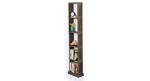 Urban Ladder Babylon Solid Wood Floor or Wall Shelf (Walnut)