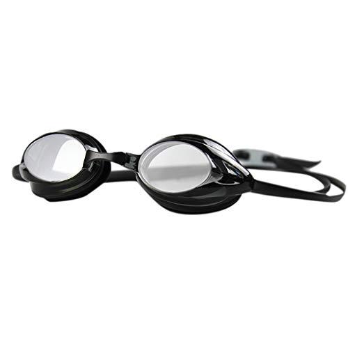 Feytuo Schwimmbrillen Anti-Fog, Professionelle wasserdichte UV-Schild-Schwimmbrille Schwarz