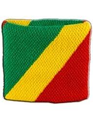 Digni® Poignet éponge avec drapeau Congo
